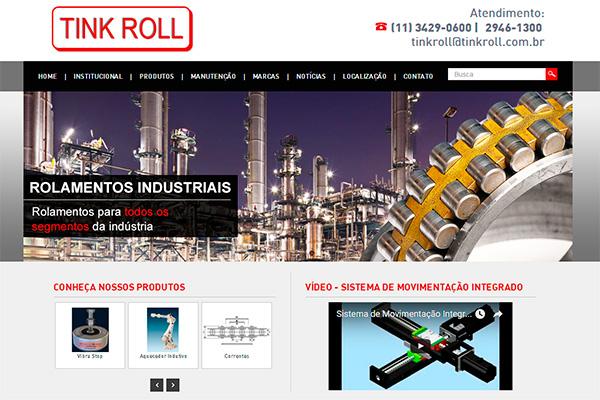 Novo web site da Tink Roll